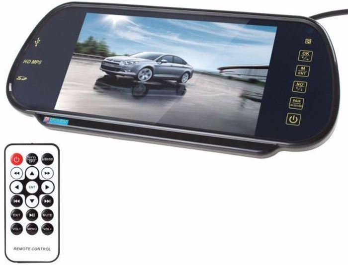 Picture of 7 inch USB SD MP5 Color TFT LCD Car Rearview Mirror Monitor Remote Built-in Bluetooth