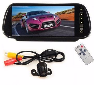 Picture of 7 Inch LCD Mirror Monitor with Car Rear View Reversing Camera