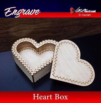 صورة صندوق شكل قلب