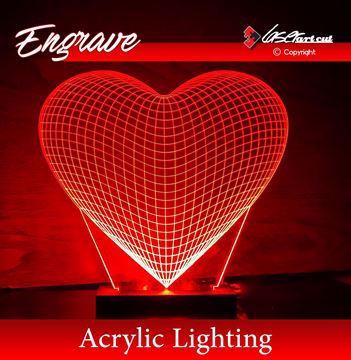 صورة قلب اكريليك
