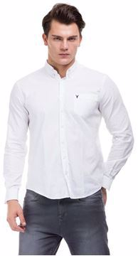 Picture of Ravin White Cotton Shirt Neck Shirts For Men