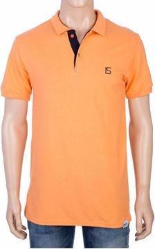 Picture of Brand Stores Orange Shirt Neck Polo For Men