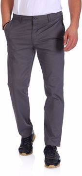 Picture of Grinta Cotton Slim Fit Trousers For Men - Dark Grey