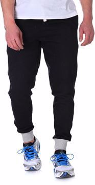 Picture of Bronco -M-4001124619 Cuffed Sweat Pants For Men - Black