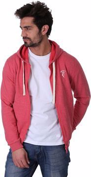 Picture of Bronco -2XL-9000351622 Zipper Hoodie For Men - Red