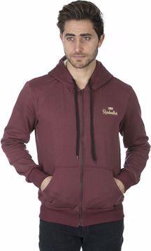 Picture of Roadwalker C R104 Zipper Hoodie For men, Dark Red