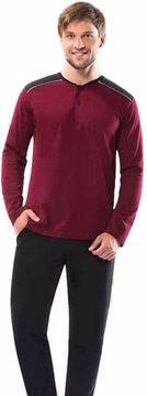 Picture of Donwear Burgundy Black Cotton Pajama For Men