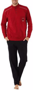 Picture of Hmd Black Red Cotton Pajama For Men