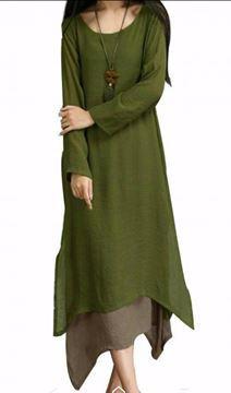 صورة فستان كاجوال من اخرى قصة واسعة للنساء