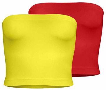 صورة سيلفي طقم من 2 بلايز تيوب للنساء لون متعدد الالوان مقاس - XXL