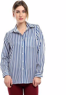 صورة جيرو بلوزة كحلى قبة قميص -نساء