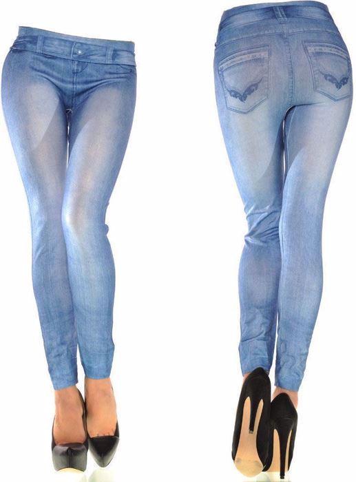 Picture of Glamor Blue Skinny Leggings Pant For Women