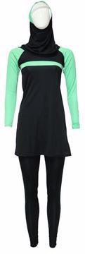 Picture of Miami Black&green Burqini For Women