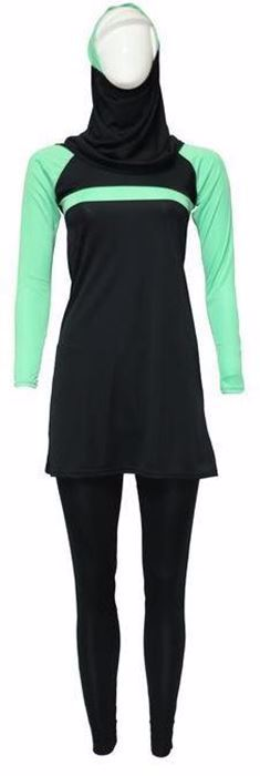 Picture of Miami Black&green Burqini For Women
