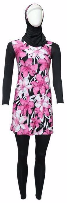 Picture of Miami Black/pink Burqini For Women
