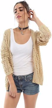 Picture of Ravin 48082 Cardigan For Women, Beige