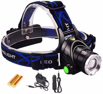 صورة AloneFire HP79 Cree XM-L T6 2000 Lumens Zoomable Head Flashlight Torch