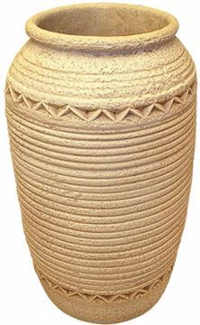 Picture of Kenzi PT 77 Outdoor Plastic planter Pot Etno old lime stone - Beige