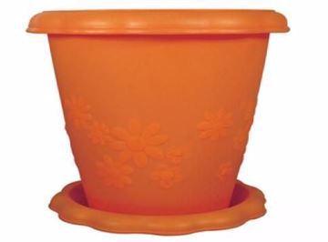 Picture of وعاء زرع بلاستيك بالطبق من خورشيد، 32سم،