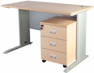 Picture of Station 1260 Modern Office Desk by Mahmayi - Oak