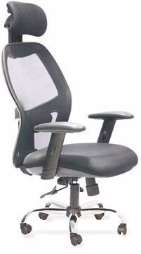 Picture of Swivel Office chair black By Mesh