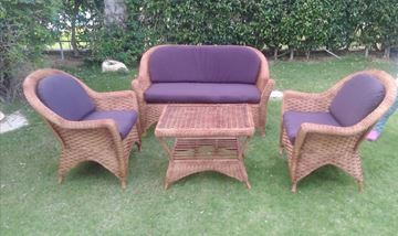 Picture of Bamboo set with two chairs, a sofa and a table