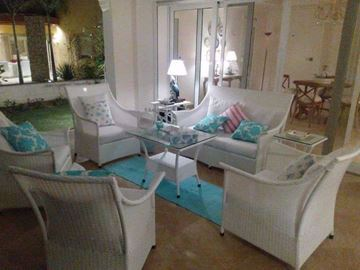 Picture of Bamboo sofa set and four chairs with reinforcement