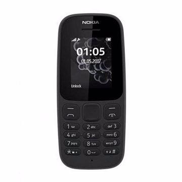 صورة Nokia 105 2017 - موبايل 1.8 بوصة ثنائى الشريحة - أسود