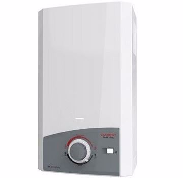 Picture of Olympic Electric Digital Gas Water Heater, 10 Liters, White - OEGWDG10FLWH