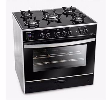 Picture of Unionaire C6080GS-AC-383-IDSH-S i-Chef Gas Cooker With Fan - 5 Burners