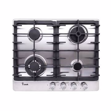 Picture of i-Cook BH5060S-8-IS Gas Built-In Hob- 4 Burners, Stainless Steel, 60 Cm