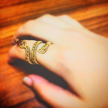 snake copper ring