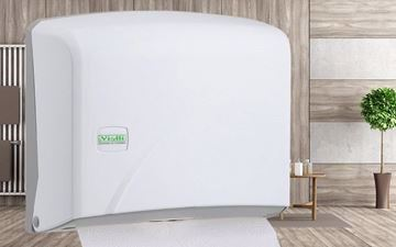 صورة Vialli Z Folded Paper Towel Dispenser Capacity 200 (White)