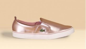 Picture of Lacoste Sneakers 🐊 - Rose gold/White