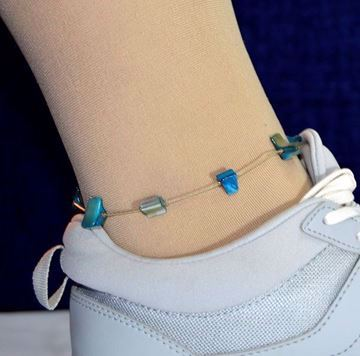 Picture of Metal Anklet & Turquoise Stones