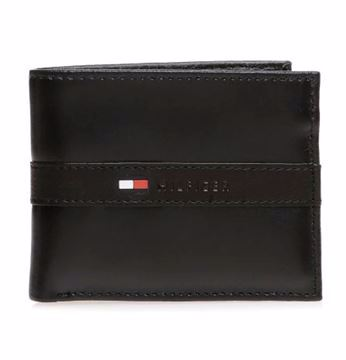 Picture of Tommy Hilfiger Leather Men's Wallet Ranger Passcase, Black