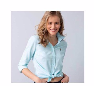 صورة U.S. Polo Assn. Women's Long Sleeve Poplin Woven Shirt