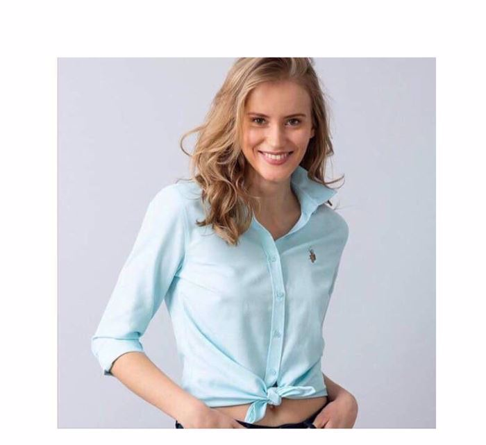 Picture of U.S. Polo Assn. Women's Long Sleeve Poplin Woven Shirt