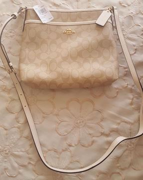 صورة Coach File Signature Khaki Light Gold Cross Body Bag