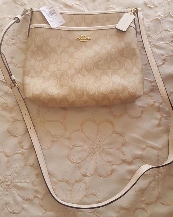 Picture of Coach File Signature Khaki Light Gold Cross Body Bag