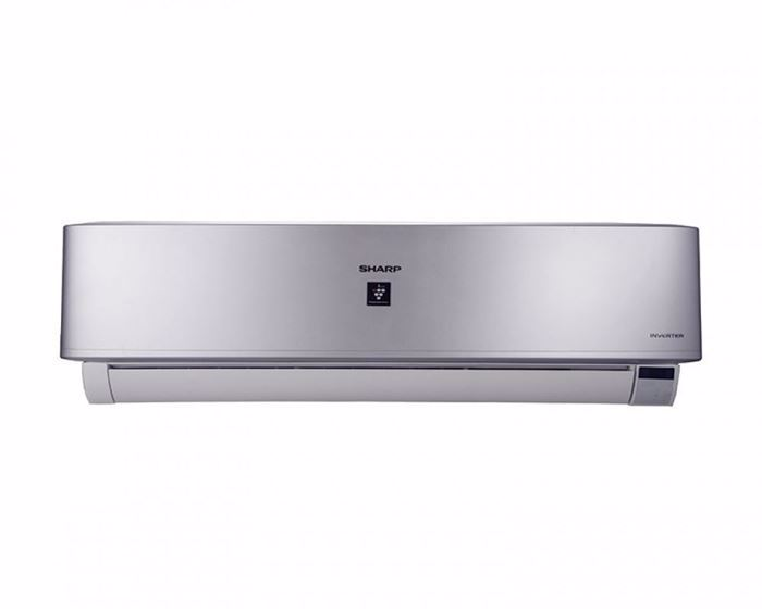 Picture of SHARP Split Air Conditioner 2.25HP Cool - Heat Inverter Digital with Plasma Cluster In Silver Color AY-XP18UHE