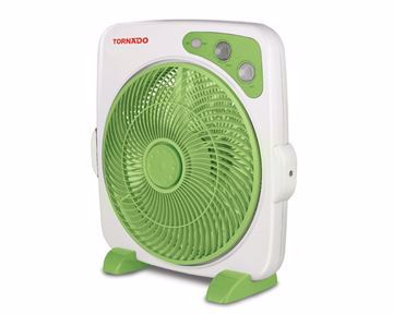 Picture of TORNADO Box Fan 14 Inch With 4 Plastic Blades and 4 Speeds In Blue Or Green Color B-BXT-35