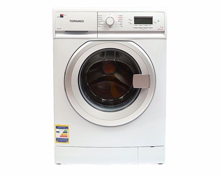 Picture of TORNADO Washing Machine Fully Automatic 8 Kg in White Color TWFL8-V12WS