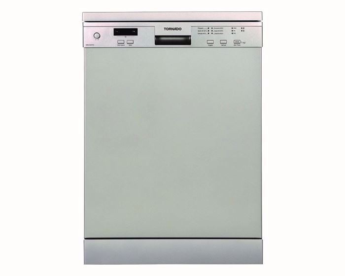 Picture of TORNADO Dishwasher For 12 Person 60 cm In Silver Color With Digit Display and 6 Programs DWS-A12CTT-S