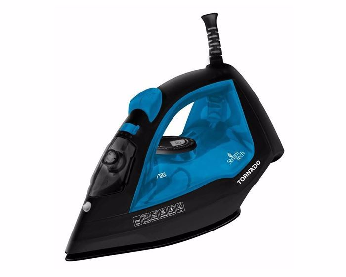 Picture of TORNADO Steam Iron 2200 Watt With Ceramic Non-Stick Soleplate In Blue Or Orange Colors TST-2200