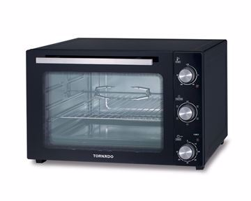 Picture of TORNADO Electric Oven 55 Litre , 2000 Watt in Black Color With Grill and Fan TEO-55DG(K)