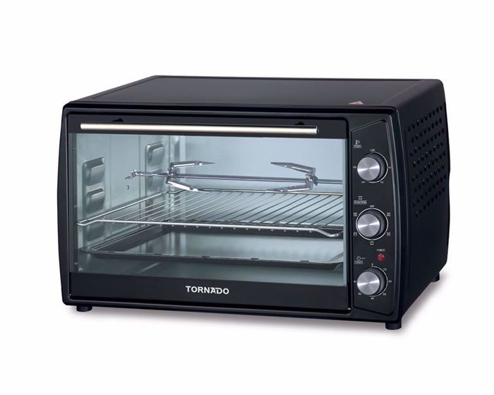 Picture of TORNADO Electric Oven 63 Litre , 2200 Watt in Black Color With Grill and Fan TEO-63(K)