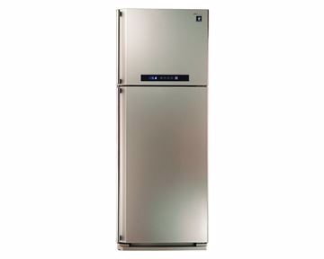 Picture of SHARP Refrigerator Digital No Frost 384 Liter, 2 Doors In Champagne Color With Plasma Cluster SJ-PC48A(CH)