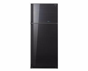 Picture of SHARP Refrigerator Inverter Digital No Frost 450 Liter, 2 Glass Doors In Black Color SJ-GV58A(BK)