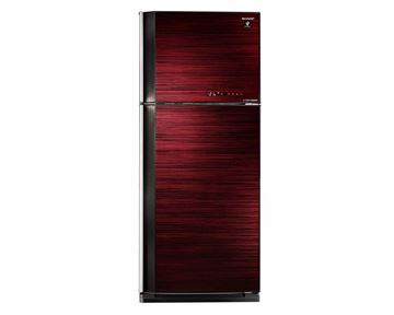 Picture of SHARP Refrigerator Inverter Digital No Frost 450 Liter, 2 Glass Doors In Red Color SJ-GV58A(RD)
